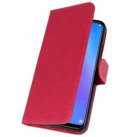 Huawei P Smart 2019 Hoesje Kaarthouder Book Case Telefoonhoesje Rood
