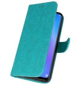 Huawei P Smart 2019 Hoesje Kaarthouder Book Case Telefoonhoesje Groen