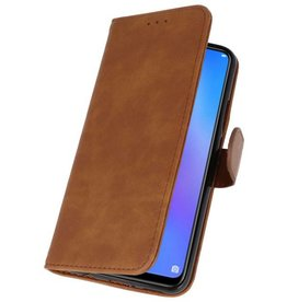 Huawei P Smart 2019 Hoesje Kaarthouder Book Case Telefoonhoesje Bruin