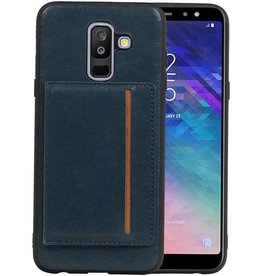 Staand Back Cover 1 Pasjes Galaxy A6 Plus 2018 Navy