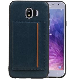 Staand Back Cover 1 Pasjes Galaxy J4 Navy