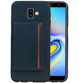 Staand Back Cover 1 Pasjes Galaxy J6 Plus Navy