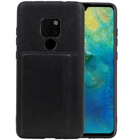 Staand Back Cover 1 Pasjes Huawei Mate 20 Zwart