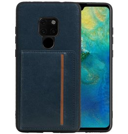 Staand Back Cover 1 Pasjes Huawei Mate 20 Navy