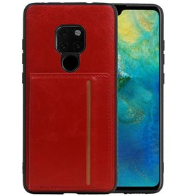 Staand Back Cover 1 Pasjes Huawei Mate 20 Rood