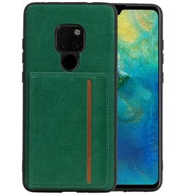 Staand Back Cover 1 Pasjes Huawei Mate 20 Groen
