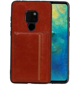 Staand Back Cover 1 Pasjes Huawei Mate 20 Bruin