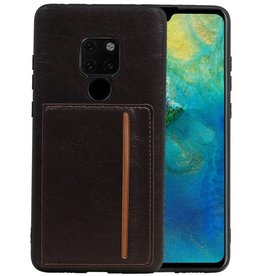 Staand Back Cover 1 Pasjes Huawei Mate 20 Mocca