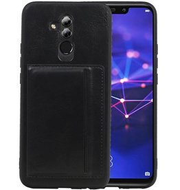 Staand Back Cover 1 Pasjes Huawei Mate 20 Lite Zwart