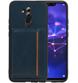 Staand Back Cover 1 Pasjes Huawei Mate 20 Lite Navy