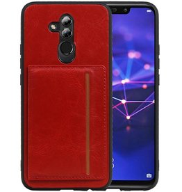 Staand Back Cover 1 Pasjes Huawei Mate 20 Lite Rood