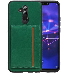 Staand Back Cover 1 Pasjes Huawei Mate 20 Lite Groen