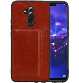 Staand Back Cover 1 Pasjes Huawei Mate 20 Lite Bruin