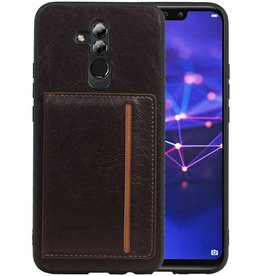 Staand Back Cover 1 Pasjes Huawei Mate 20 Lite Mocca