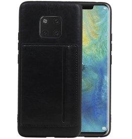Staand Back Cover 1 Pasjes Huawei Mate 20 Pro Zwart