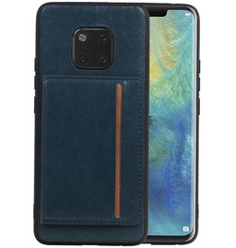 Staand Back Cover 1 Pasjes Huawei Mate 20 Pro Navy