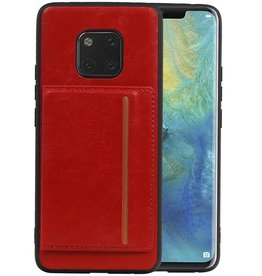 Staand Back Cover 1 Pasjes Huawei Mate 20 Pro Rood