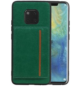 Staand Back Cover 1 Pasjes Huawei Mate 20 Pro Groen