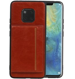 Staand Back Cover 1 Pasjes Huawei Mate 20 Pro Bruin