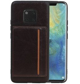 Staand Back Cover 1 Pasjes Huawei Mate 20 Pro Mocca