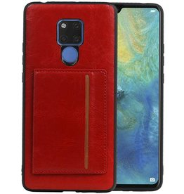 Staand Back Cover 1 Pasjes Huawei Mate 20 X Rood