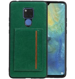 Staand Back Cover 1 Pasjes Huawei Mate 20 X Groen