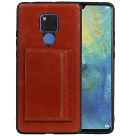 Staand Back Cover 1 Pasjes Huawei Mate 20 X Bruin
