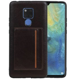 Staand Back Cover 1 Pasjes Huawei Mate 20 X Mocca