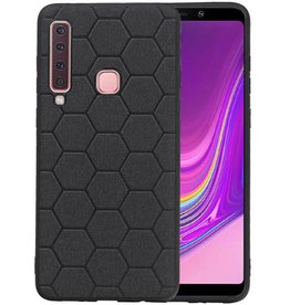 Hexagon Hard Case Samsung Galaxy A9 2018 Zwart
