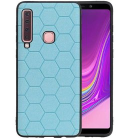 Hexagon Hard Case Samsung Galaxy A9 2018 Blauw