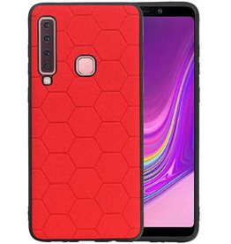 Hexagon Hard Case Samsung Galaxy A9 2018 Rood