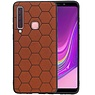 Hexagon Hard Case Samsung Galaxy A9 2018 Bruin
