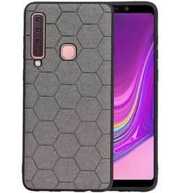Hexagon Hard Case Samsung Galaxy A9 2018 Grijs