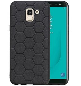 Hexagon Hard Case Samsung Galaxy J6 Zwart