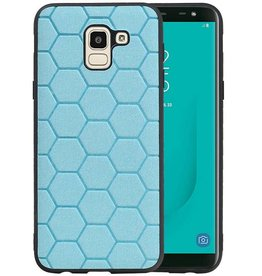 Hexagon Hard Case Samsung Galaxy J6 Blauw