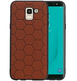 Hexagon Hard Case Samsung Galaxy J6 Bruin
