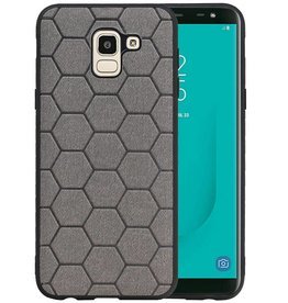 Hexagon Hard Case Samsung Galaxy J6 Grijs