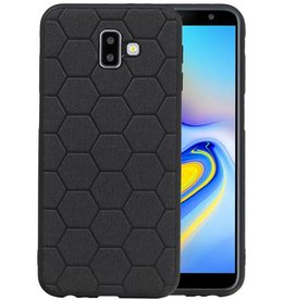 Hexagon Hard Case Samsung Galaxy J6 Plus Zwart