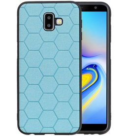 Hexagon Hard Case Samsung Galaxy J6 Plus Blauw