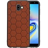 Hexagon Hard Case Samsung Galaxy J6 Plus Bruin