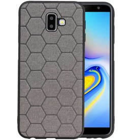 Hexagon Hard Case Samsung Galaxy J6 Plus Grijs