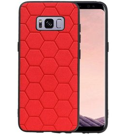 Hexagon Hard Case Samsung Galaxy S8 Rood