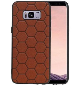 Hexagon Hard Case Samsung Galaxy S8 Bruin