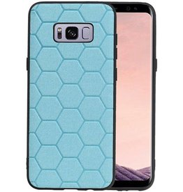 Hexagon Hard Case Samsung Galaxy S8 Plus Blauw