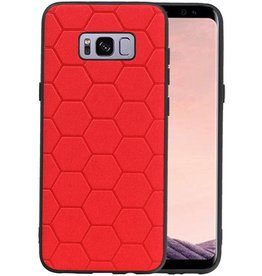Hexagon Hard Case Samsung Galaxy S8 Plus Rood