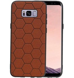 Hexagon Hard Case Samsung Galaxy S8 Plus Bruin