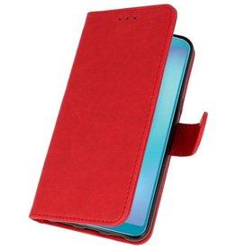 Samsung Galaxy A8s Hoesje Kaarthouder Book Case Telefoonhoesje Rood