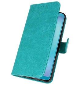 Samsung Galaxy A8s Hoesje Kaarthouder Book Case Telefoonhoesje Groen