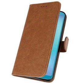Samsung Galaxy A8s Hoesje Kaarthouder Book Case Telefoonhoesje Bruin