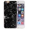 Marble Zwart Print Hardcase iPhone 6 Plus